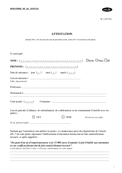 modèle attestation judiciaire, photo vu sur : justitialand.blogspot ...