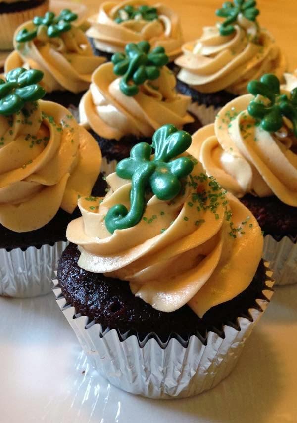 Guinness Chocolate Cupcake w/ Irish Whiskey & Browned Butter Swiss Buttercream