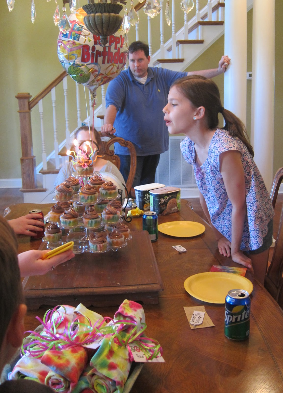 { all six of us }: { 10th Tie Dye Birthday Party }