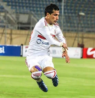 طارق حامد لاعب وسط الزمالك الدولي