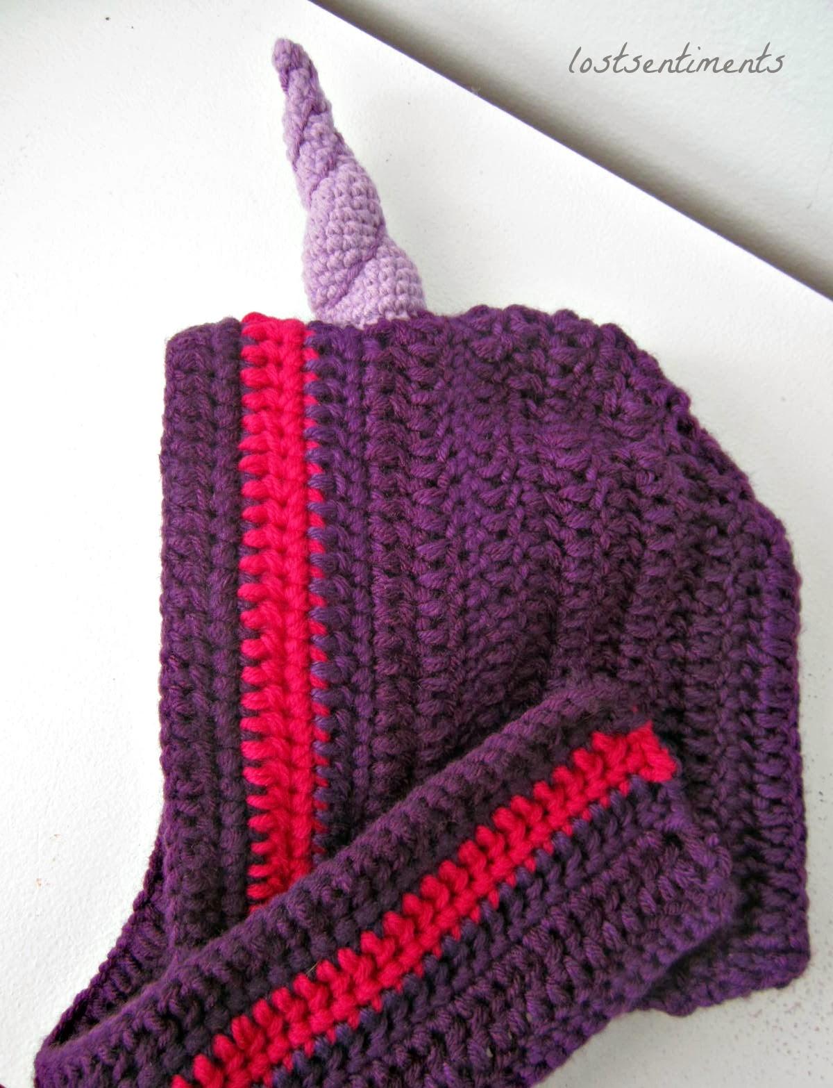 Crochet Unicorn Horn : lostsentiments: Free Amigurumi Crocheted Unicorn Horn Pattern