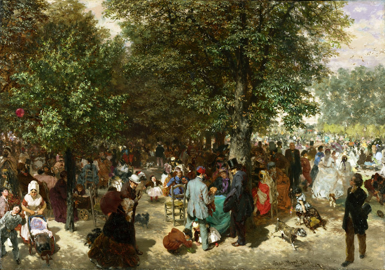 Adolph Menzel - Afternoon in the Tuileries Gardens [1867]