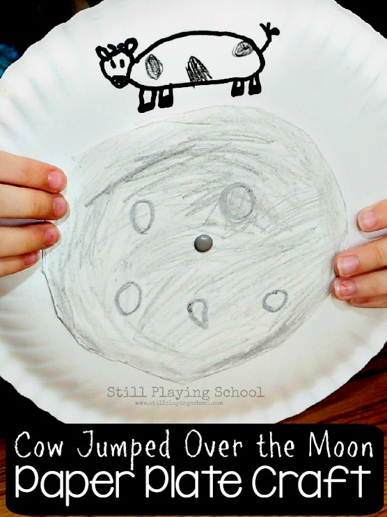 Interactive Hey Diddle Diddle Nursery Rhyme Craft for Kids! Make the cow jump over the  sc 1 st  Still Playing School & The Cow Jumped Over the Moon Craft | Still Playing School