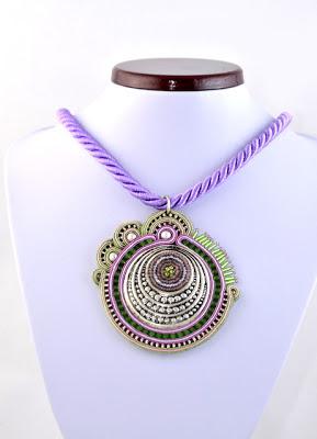 sutasz naszyjnik wisior soutache pendant necklace 12b