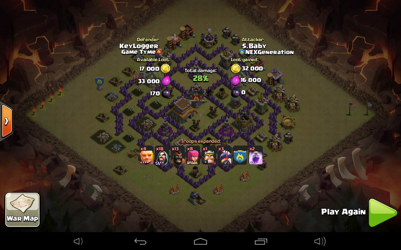 Th8 War Base Defended 5 Th9 Attacks Anti Everything Anti Th9