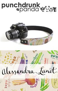 Watercolored Punchdrunk Panda Camera Straps