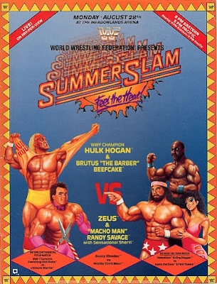 WWF SummerSlam 1989 Mega-Maniacs Hulk Hogan Ultimate Warrior vs Zeus Randy Savage Sensational Sherri