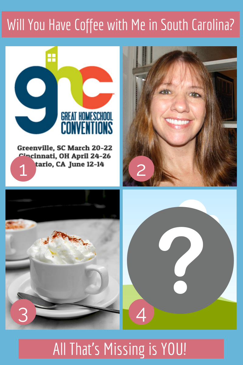 Join me in Greenville, SC. for the Great Homeschool Conventions and a cup of coffee!  via @tmichellecannon