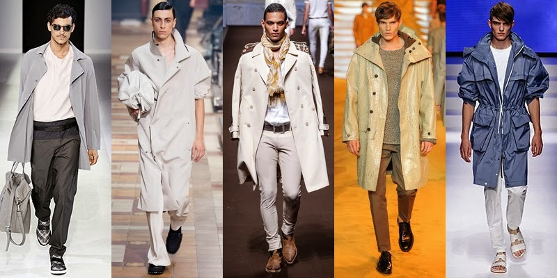 Raincoat Men Fashion For Spring 2014