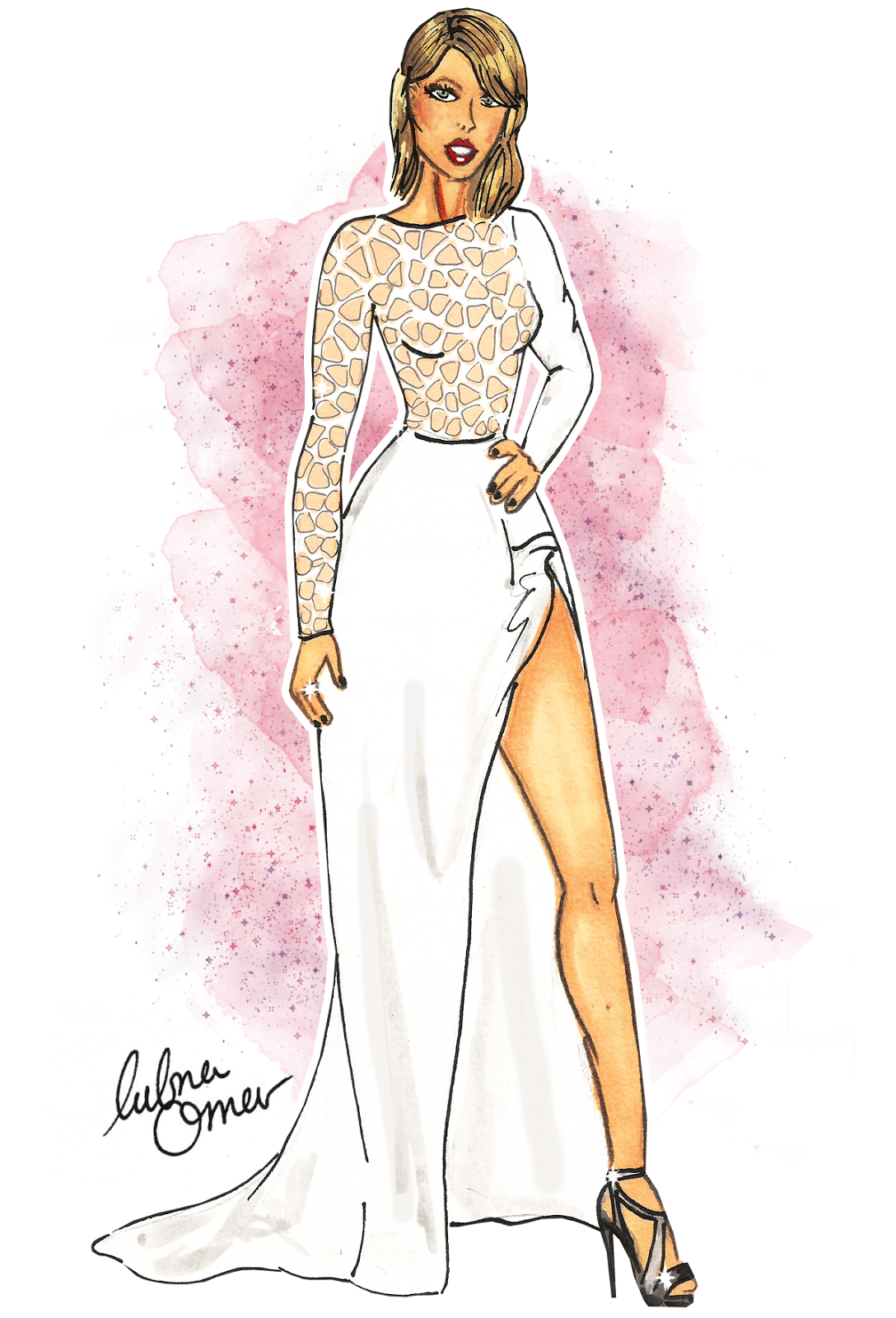 Taylor Swift in Zuhair Murad by Lubna Omar