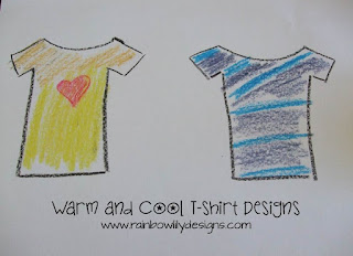 warm and cool art www.rainbowlilydesigns.com
