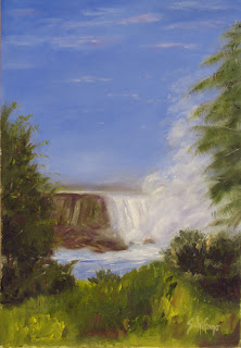 Niagara Falls oil painting