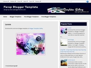 Ferop Blogger templates