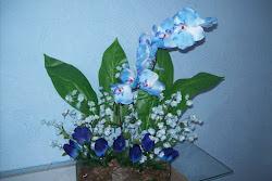 arranjo orquidea azul