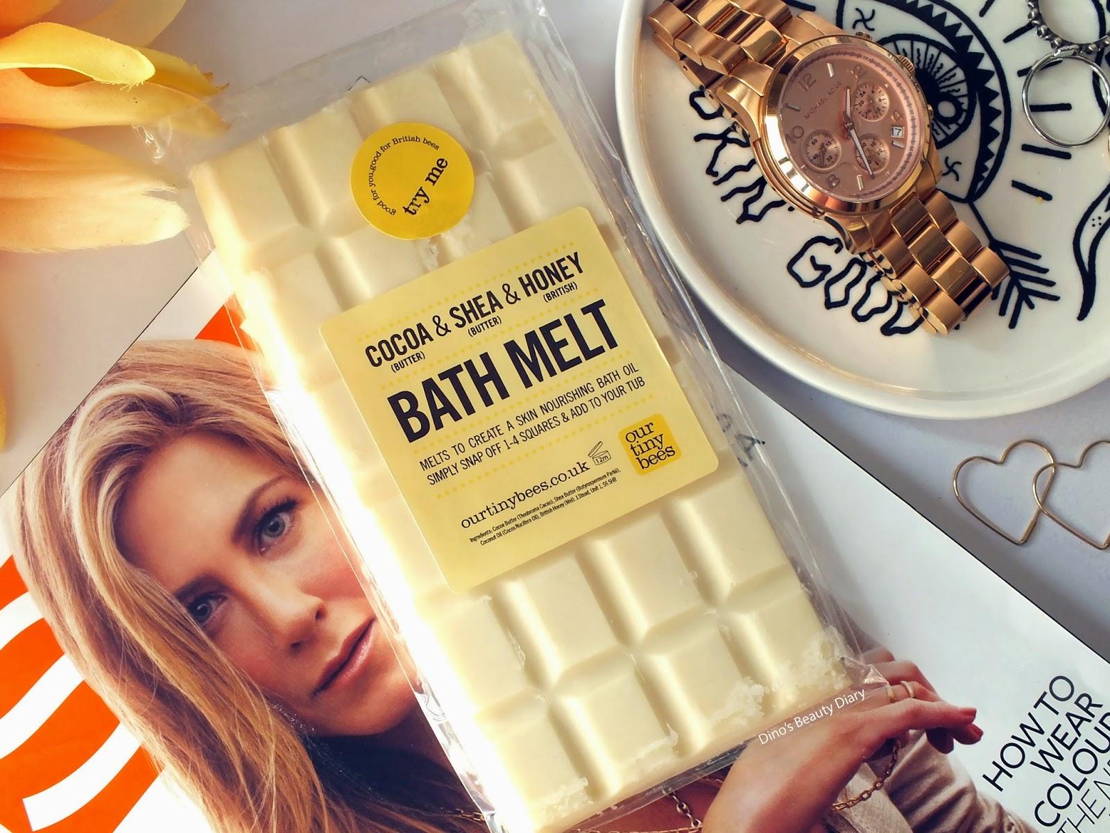 Dino's Beauty Diary - Bath & Body Review - Our Tiny Bees 'Cocoa, Shea and Honey' Bath Melt