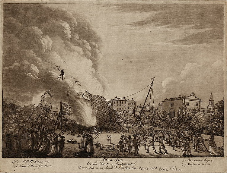 Lord Foley's disastrous balloon launch.