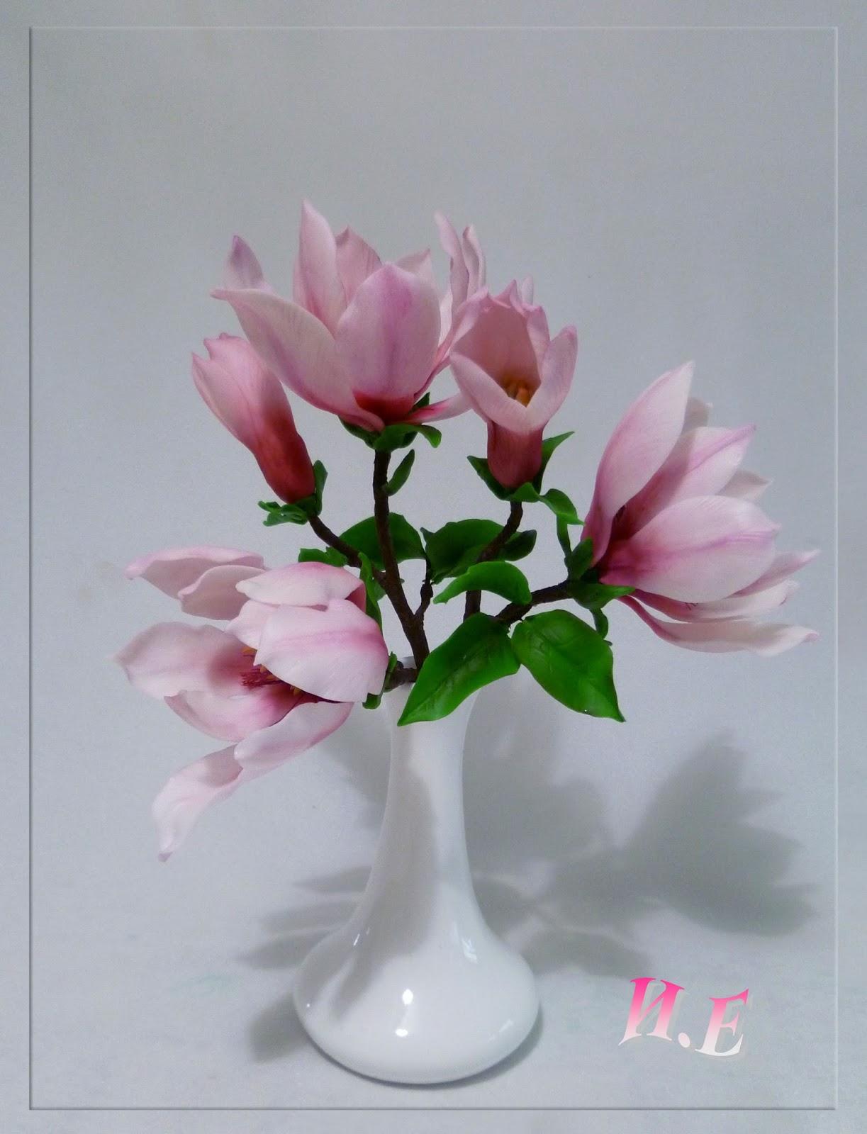 Цветы из мастики торты
