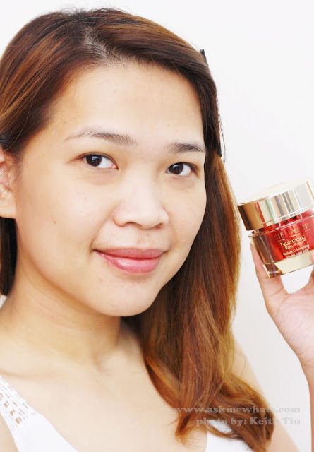 A photo of Estée Lauder's NEW Nutritious Rosy Prism™ Radiant Gel Emulsion