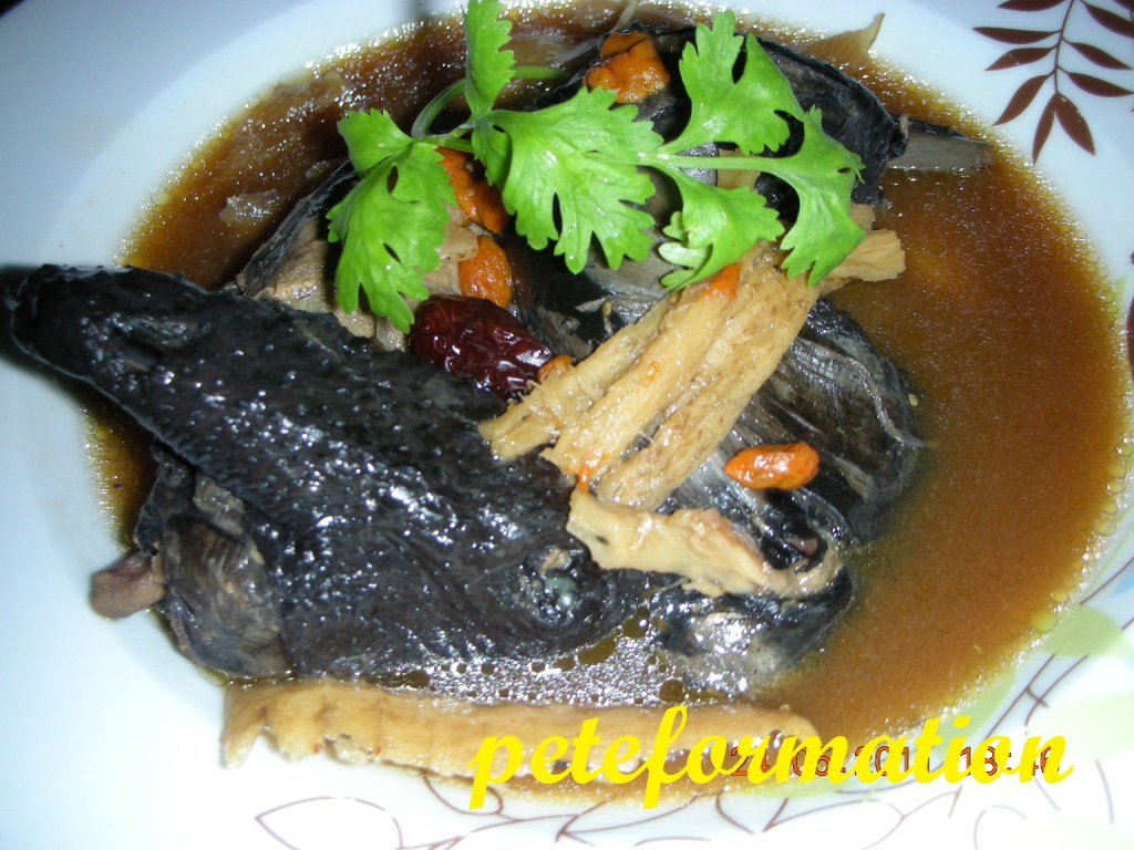how to cook black chicken soup