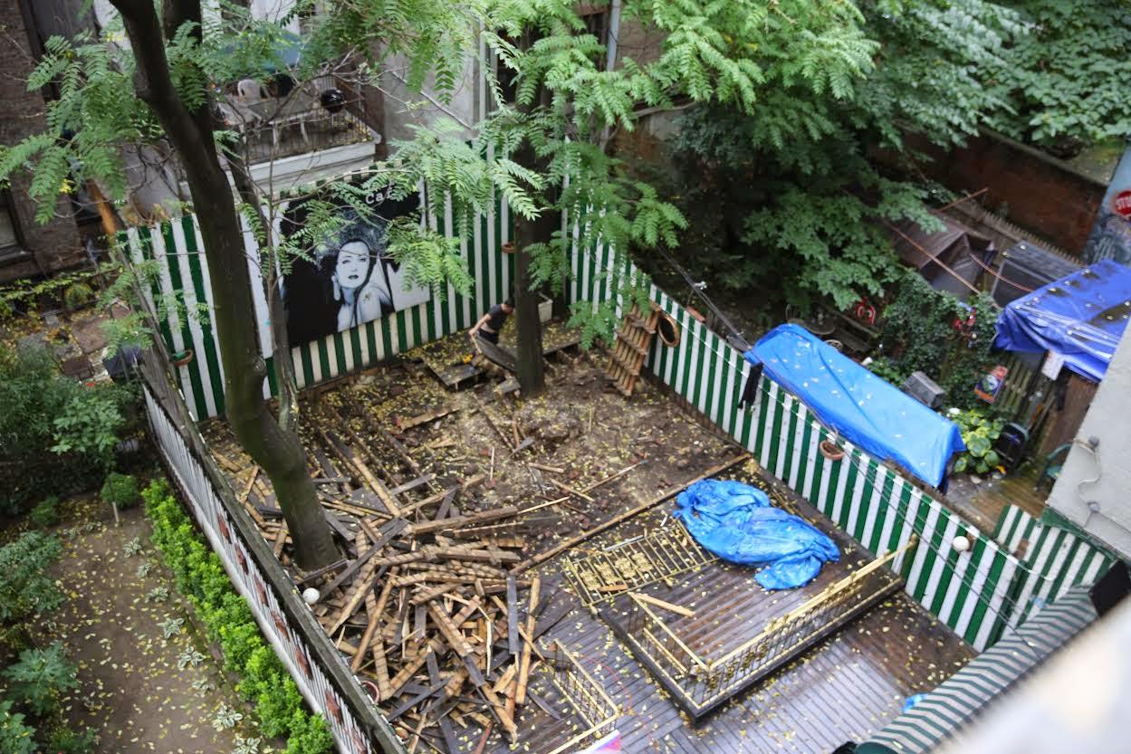 ev grieve yaffa cafe is officially gone back garden dismantled