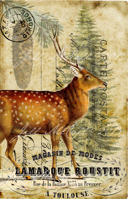 ~Winter Red Deer ~  Original Art by Jill McCall©2013