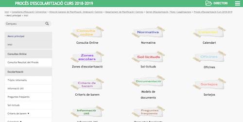 Procés escolarització Curs 2018/19