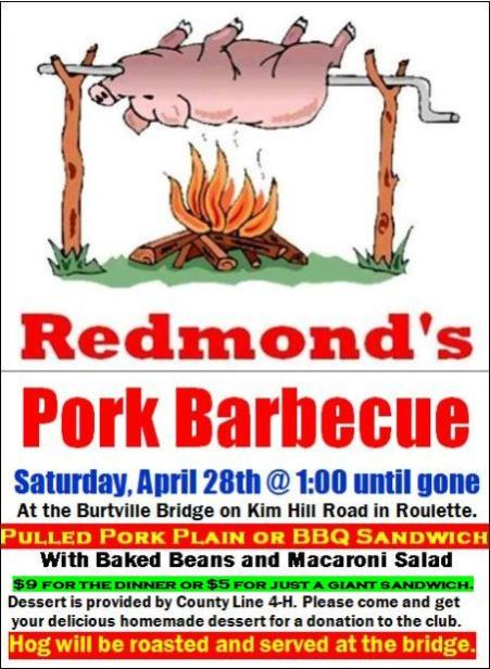 4-28 Pulled Pork BBQ, Burtville Bridge