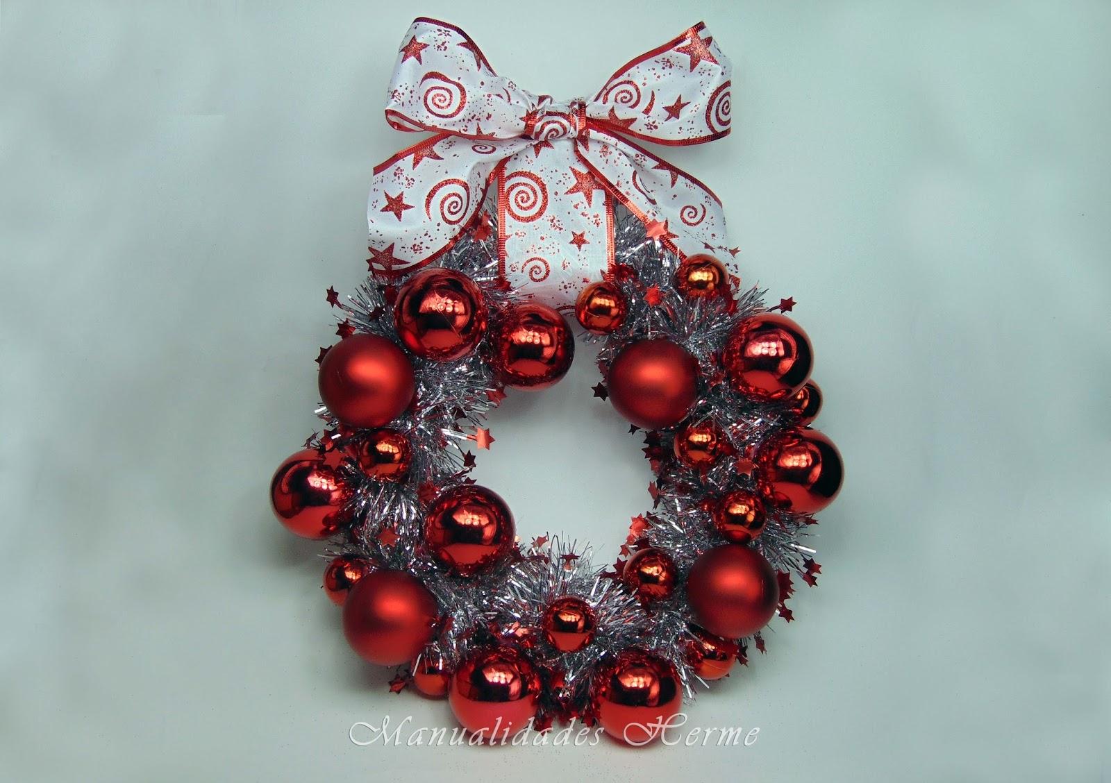 Manualidades herme hacer una corona para navidad - Coronas de navidad ...