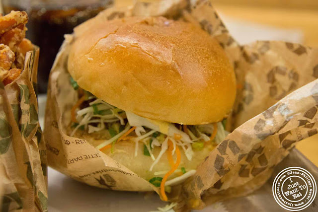Image of Veggie burger at Kobeyaki in NYC, New York