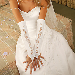 Bridesmaid dresses lace sexy fingerless bridal gloves for Wedding dresses with gloves