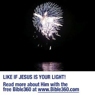 Like if Jesus is your light! (fireworks exploding at night that kind looks like a person)