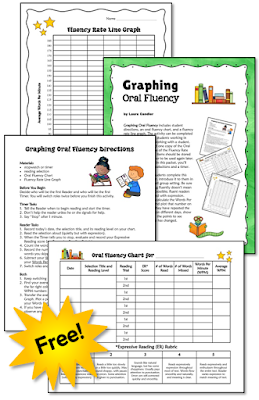 Freebie for graphing and tracking oral reading fluency