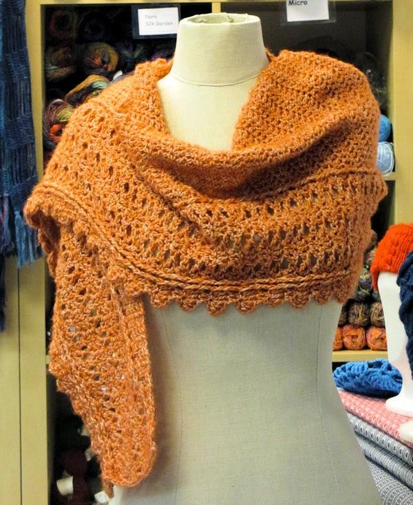 Romantische sjaal van Stone Washed
