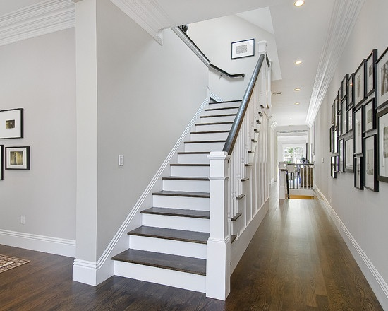 Have The Railing Stained And The Spindles And Newel Post Painted?
