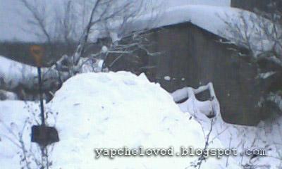 Два многокорпусника под снегом
