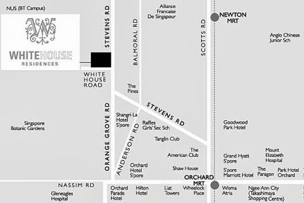 White House Residences Location Map