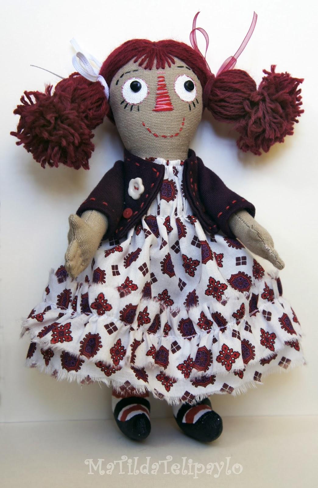 Авторская текстильная кукла MaTildaTelipaylo