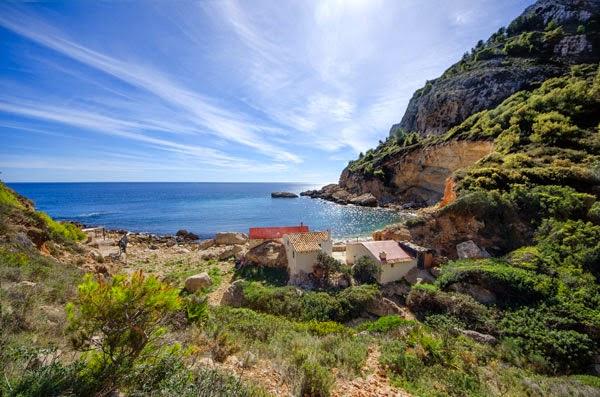 Wandelroute Cala Llebeig in Moraira aan de Costa Blanca