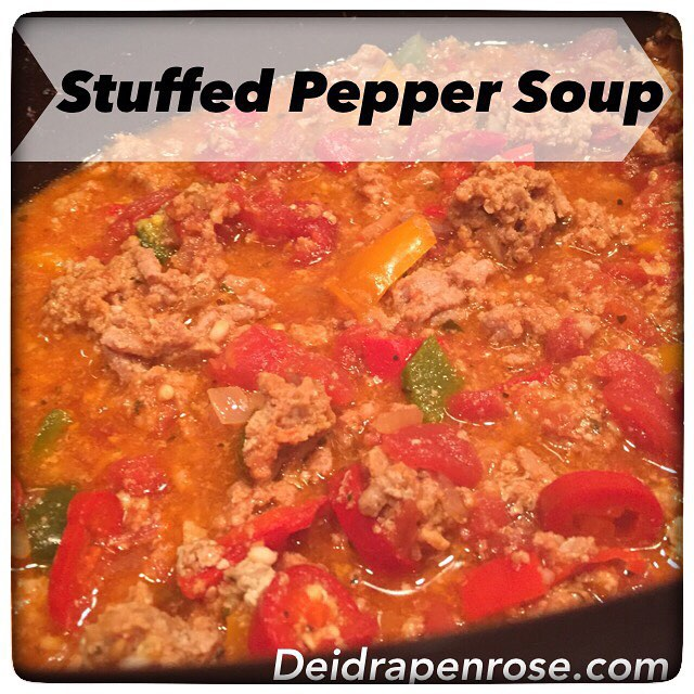 Deidra Penrose, Clean eating recipes, healthy stuffed pepper soup, fresh veggies, healthy crock pot recipes, top beachbody coach chambersburg PA, turkey meat recipes, lean ground turkey recipe, healthy meal planning, weight loss tips, diamond beahcbody coach, elite beachbody coach, top fitness coach PA, fitness motivation, fitness accountability, healthy mom tips