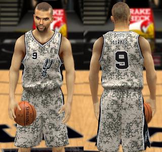 NBA 2K14 Complete Spurs Jersey Pack