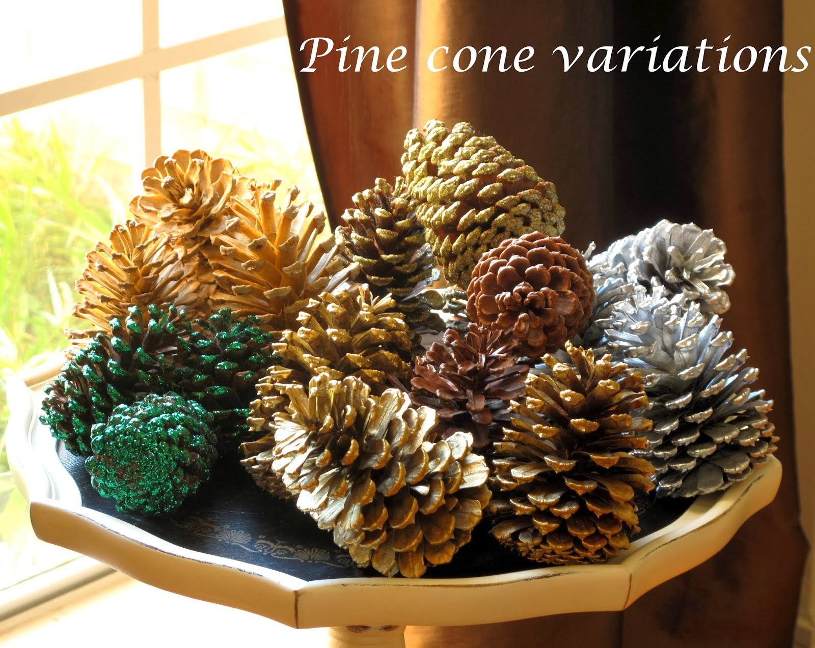 just judy decorating with pine cones