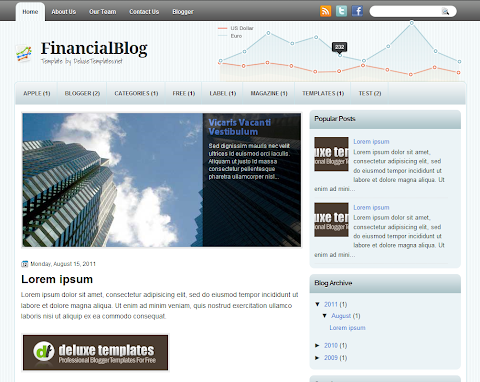 FinancialBlog Blogger Theme
