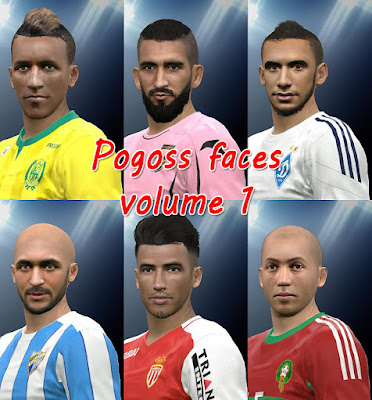 PES 2016 Facepack vol.1 by Pogoss