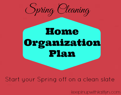 Spring Cleaning Home Organization Plan