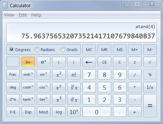 how to use the tan button on a calculator
