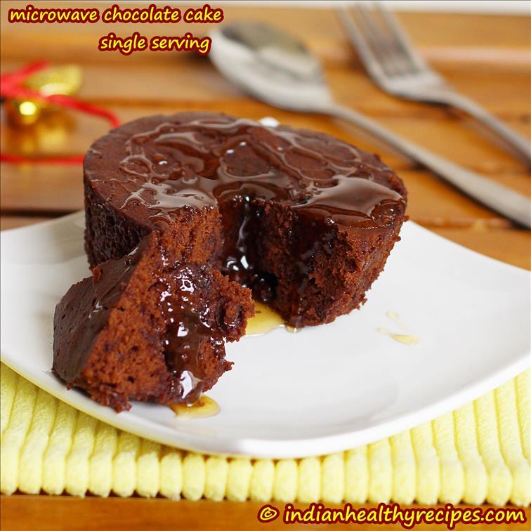 chocolate mug cake (eggless) – 2 mins microwave chocolate cake ...
