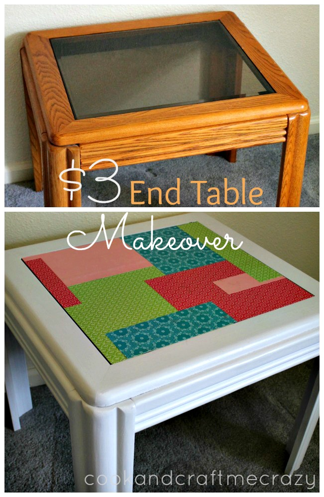 $3 End Table Makeover