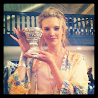 Maggie Grace and the pimp cup