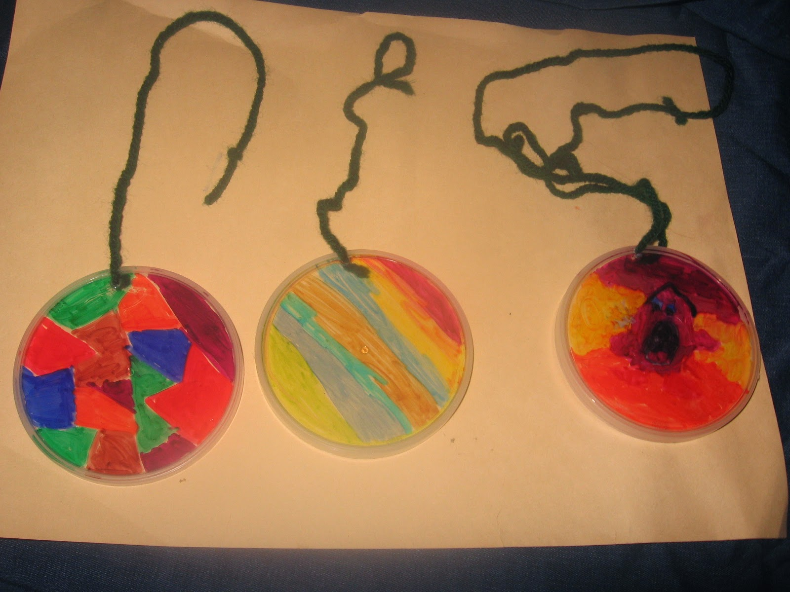 frugal and easy sun catchers, homeschool craft, ASD, autism