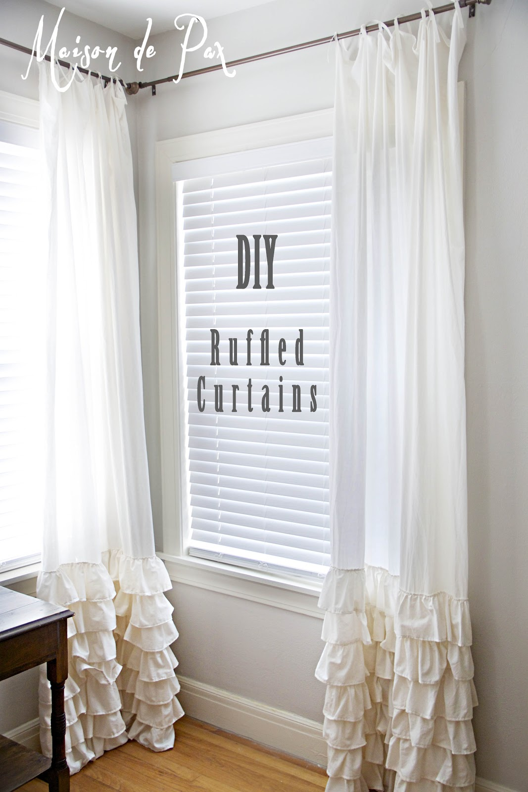 Ruffled Curtains - Maison de Pax Ruffled Curtains